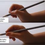 Tenue de crayon: la fléchette